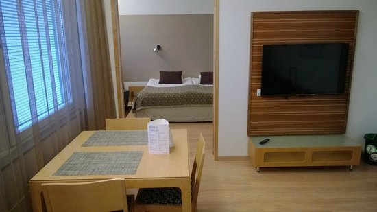 "Scandic Lahti : Junior suite, view from ""living room"" to bedroom"