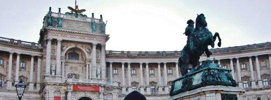 Neue Burg и конная статуя Евгения Савойского