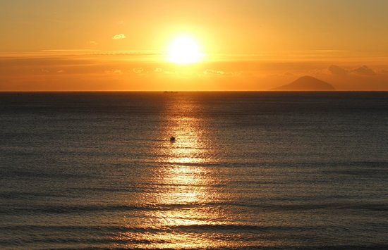 Shimoda Prince Hotel: View from my room of sunrise over the Pacific.