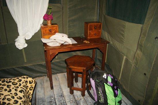 Kiboko Camp: angolo scrivania