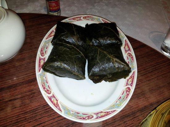 Tai Wu: Rijst en rundsvlees in bananeblad