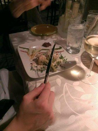 Cote D'azur Restaurant: appetizer (artichokes)