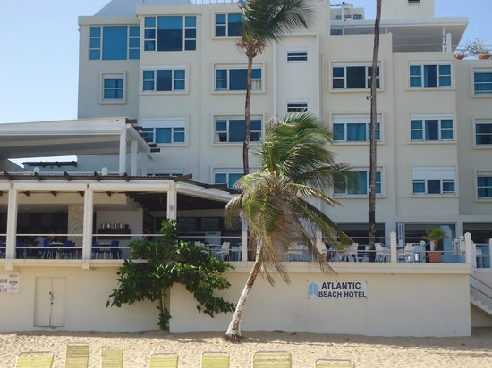 Atlantic Beach Hotel Vista Da Praia Para O