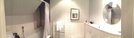 Reykjavik Residence Hotel: bathroom - note the eave and impossibility for tall people to shower