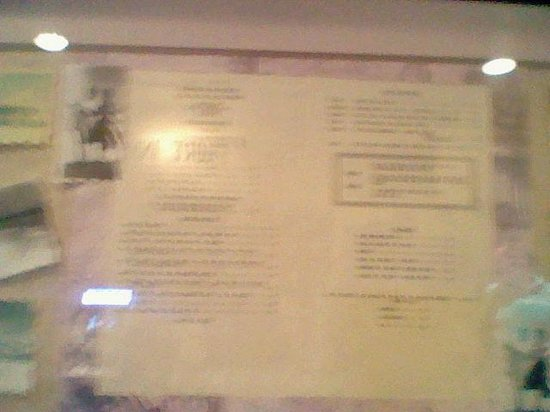 The Cottage Bar and Gulfshore Grill: Original 1940's menu