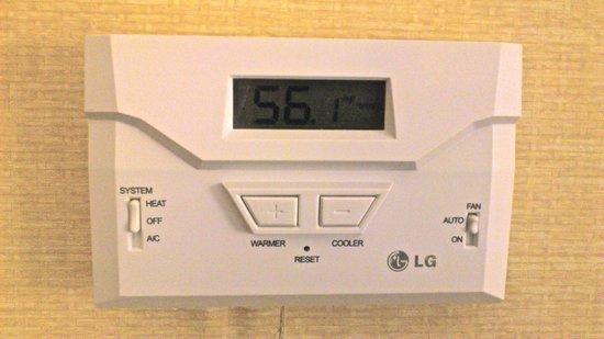 Days Inn & Suites Winnipeg Airport, Manitoba : Temperature upon arrival