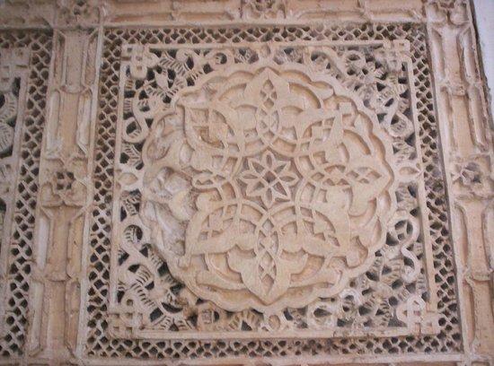 Kairaouine Mosque (Mosque of al-Qarawiyyin): Particolare della decorazione in stucco.