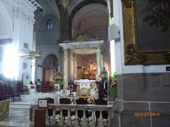 Catedral Metropolitana: Alar mayor dentro de la catedral