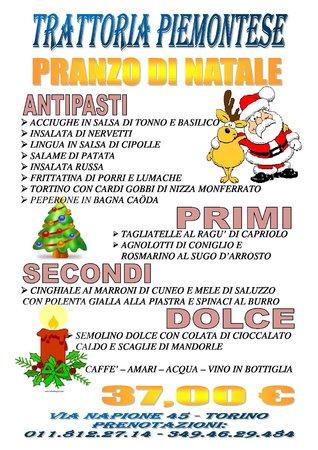 Antipasti Di Natale Piemontesi.Menu Natale Foto Di Trattoria Piemontese Torino Tripadvisor