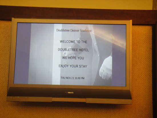 DoubleTree Denver Aurora: Welcome board