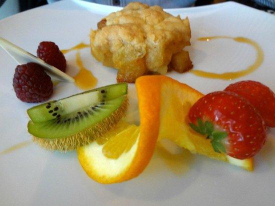 Les Berges de l'Iton : Dessert : crumble aux poires