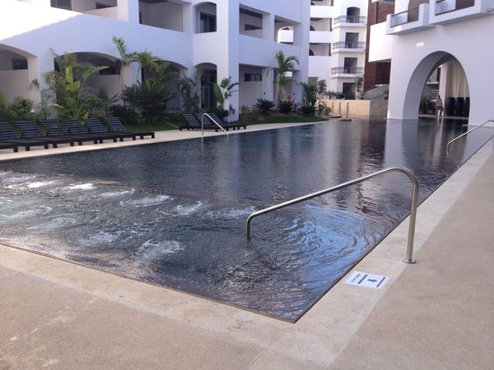 Cabo Azul Resort : New twin 'adult only' pool.  This is the west end. Duplicate on east end.  Shallow end 2ft-10in