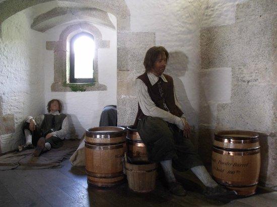 St. Mawes Castle: Inside St Mawes Castle.