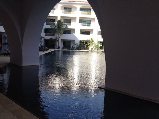 Cabo Azul Resort : New pool- view from middle of resort