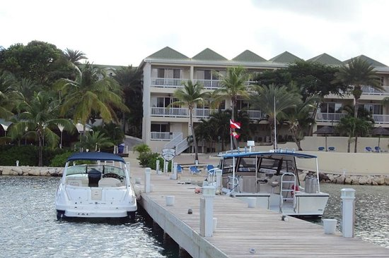 St. James's Club & Villas: From Dock Looking at Royal Suites