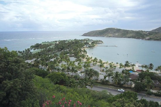 St. James's Club & Villas: View of resort from the top of the hill