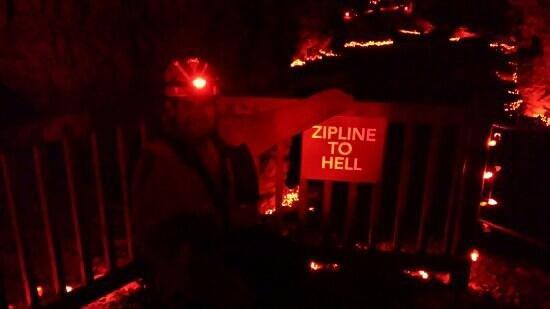 Louisville Mega Cavern: zipline to hell! 666 ft zip.