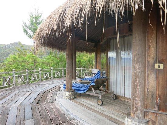 The Baliem Valley Resort: Terrace of the bungalow