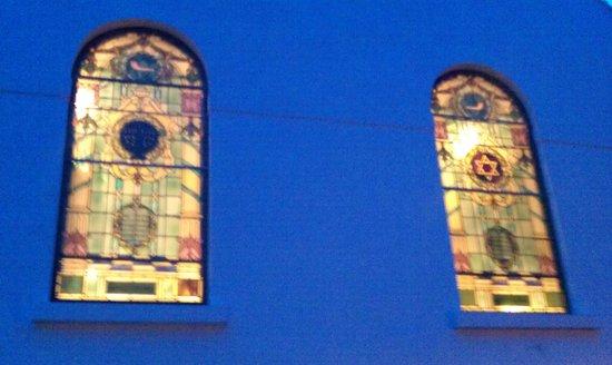 Plymouth Synagogue: Late November Friday afternoon