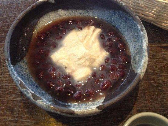 Yubadonnaokichi: デザートに、湯葉ぜんざい