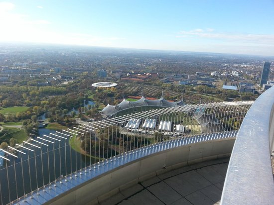 Olympiaturm: View of Munich from Olympic Tower