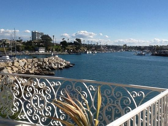 Oceanside Marina Suites: view from our suite balcony over oceanside harbour