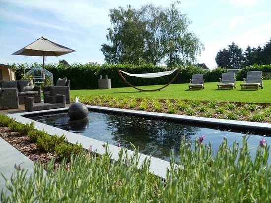 Eindhout, Βέλγιο: Tuin met vijver