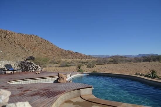 Solitaire Guest Farm Desert Ranch : View from the pool