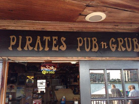 Pirates Pub and Grub: The entrance