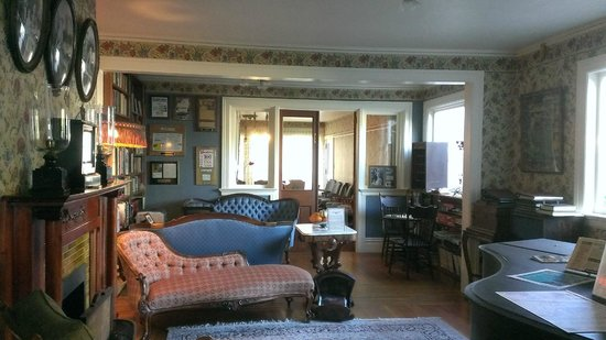 Martine Inn: Living Room and Library
