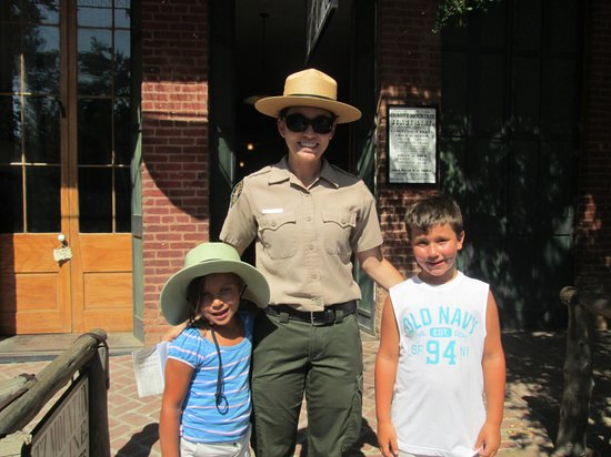 Columbia State Historic Park: With the park ranger