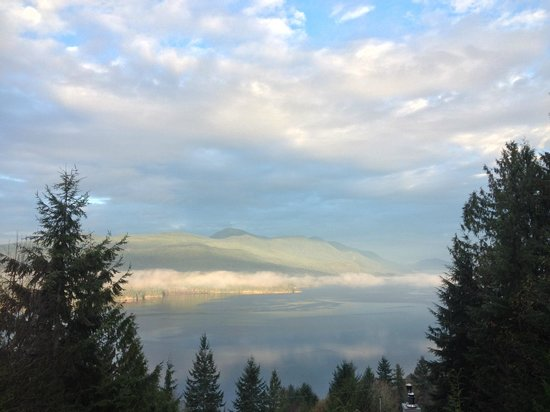 View of Porpoise Bay, Sunshine Coast from Sechelt Inlet B&B