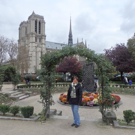 Melia Paris Notre-Dame : Notre Dame cathedral from Lagrange Park