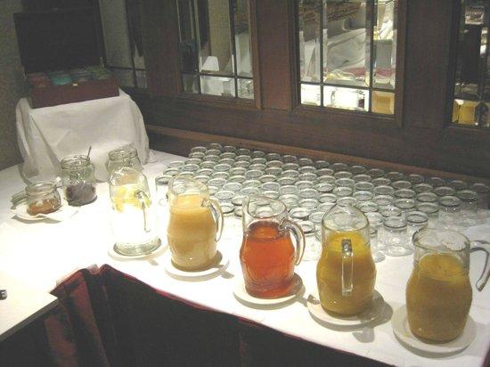 O'Callaghan Alexander Hotel Breakfast Buffet Juices