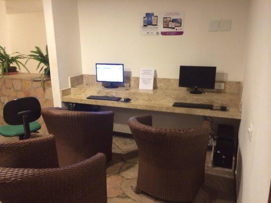 Resort La Torre: Internet wi-fi só funciona no refeitório e muito mal.