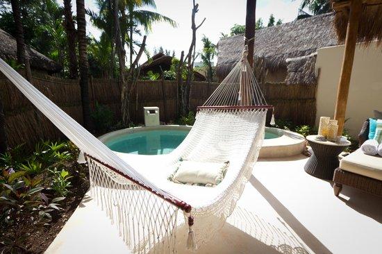 Viceroy Riviera Maya: Plunge pool and hammock at our villa