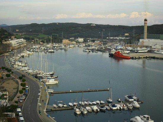 Mahon Port: Vista do porto, desde o alto