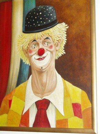 Raja's Restaurant: The clown keeps a watchful eye...