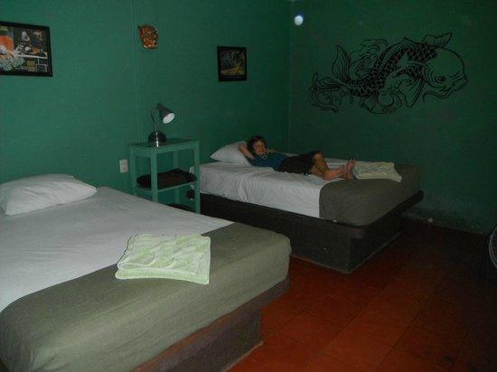 Chalupa Hostal : noisy room