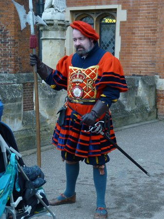 Hampton Court Palace: A tudor guard