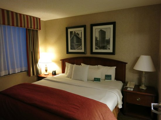 Homewood Suites by Hilton Chicago Downtown : ベッドルーム