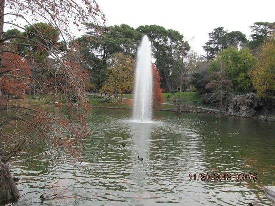 Palacio De Cristal: Lago em frente ao palácio