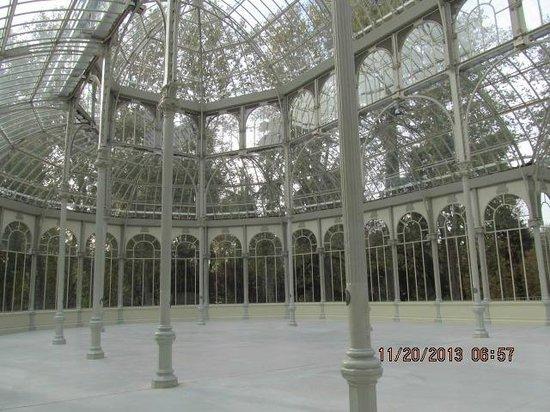 Palacio De Cristal: Visão interna do palácio de Cristal