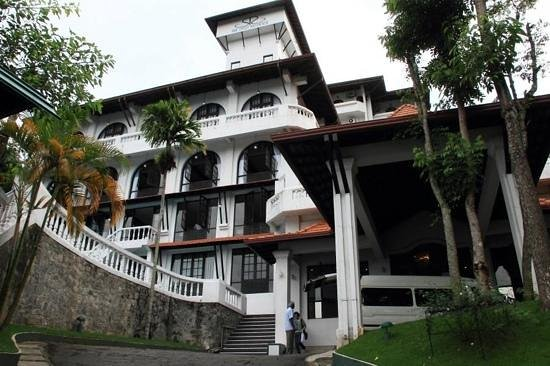 The Swiss Residence: Front view of the hotel