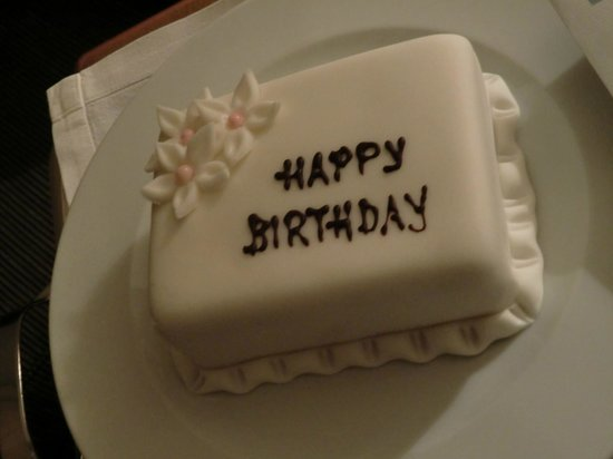 Hotel Dubrovnik Palace : Birthday cake from the hotel