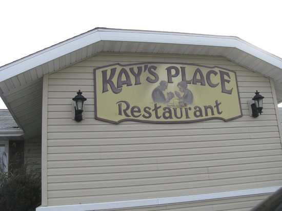 Kay's Place: Sign on the Side of the Building