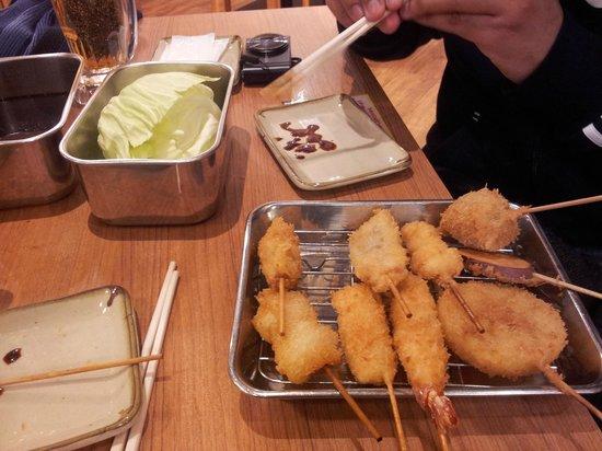 kushikatsu à Shinsekai