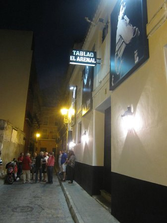 Tablao Flamenco El Arenal: Calle Rodo 7 - Rua escondida