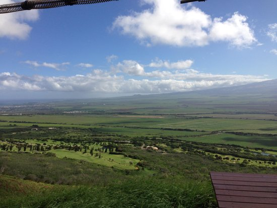 Flyin Hawaiian Zipline: View from About halfway along the course