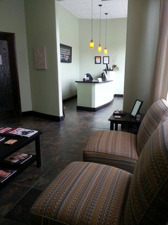 Massage Haven: Reception lobby and waiting area.